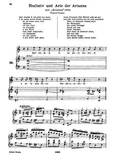 Ariadne in Crete, HWV 32: Quel crudele di me pietà non sente. Aria for soprano by Georg Friedrich Händel