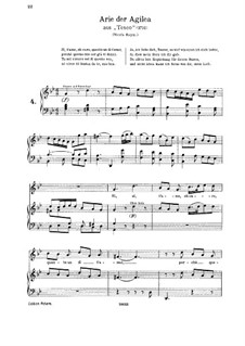 Teseo, HWV 9: Si t'amo o caro. Aria for soprano by Georg Friedrich Händel