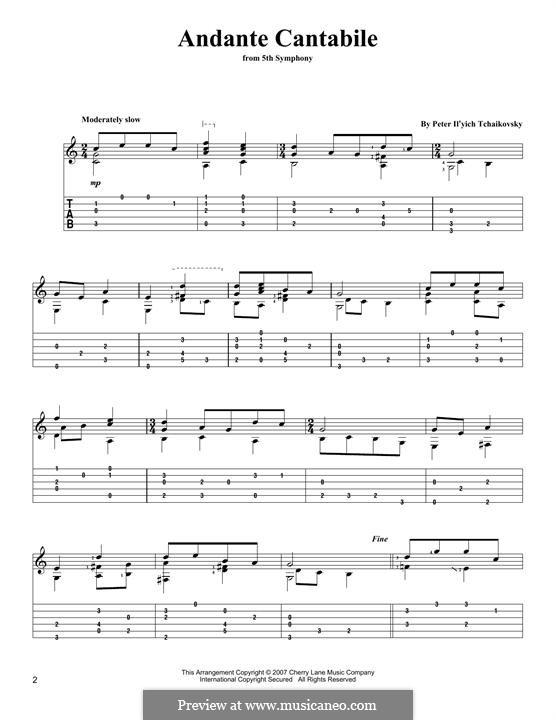 Movement II: arranjos para guitarra by Pyotr Tchaikovsky