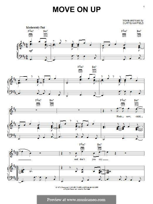 Move on up: Para vocais e piano (ou Guitarra) by Curtis Mayfield