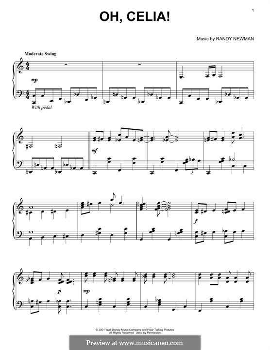 Oh, Celia!: Para Piano by Randy Newman