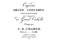 Piano Concerto No.5, Op.48: Piano Concerto No.5 by Johann Baptist Cramer