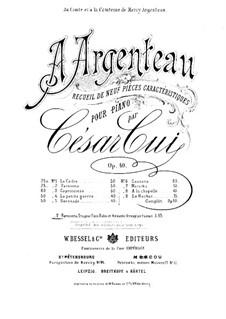 À Argenteau, Op.40: No.2 Dolce far niente, for Piano Trio by César Cui