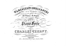 Variations brillantes sur 'Dépêchons, Travaillons', Op.132: Variations brillantes sur 'Dépêchons, Travaillons' by Carl Czerny