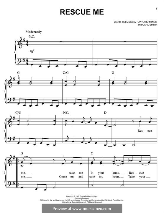 Rescue Me (Aretha Franklin): Para Piano by Carl Smith, Raynard Miner