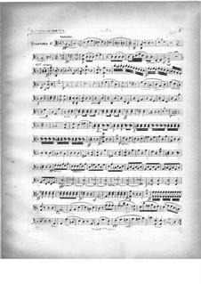 Two Quartets for Piano and Strings, Op.224: parte viola by Carl Czerny
