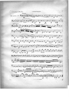 Two Quartets for Piano and Strings, Op.224: parte violoncelo by Carl Czerny