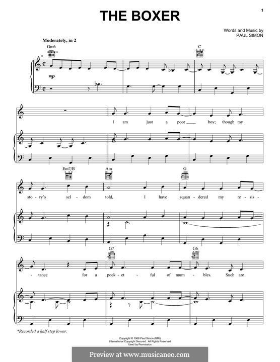 The Boxer: Para vocais e piano by Paul Simon