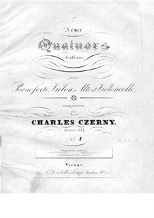 Two Quartets for Piano and Strings, Op.224: Quartet No.1 – piano part by Carl Czerny