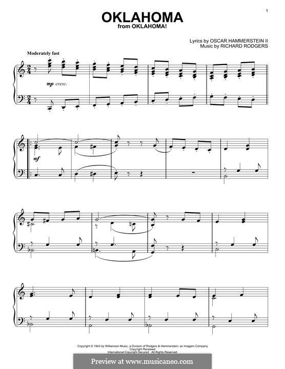 Oklahoma!: Para Piano by Richard Rodgers