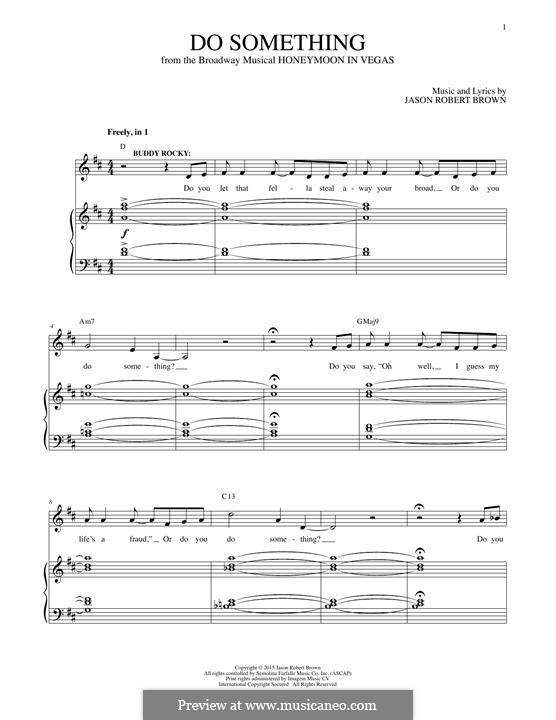 Do Something: Para vocais e piano by Jason Robert Brown