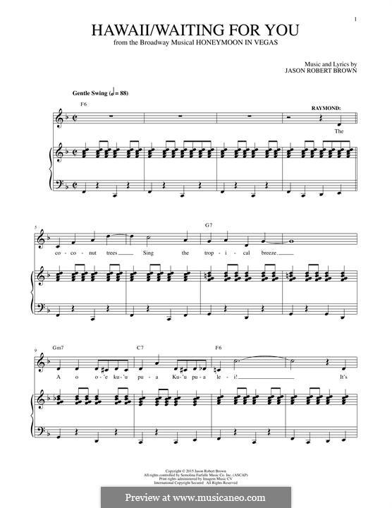 Hawaii/Waiting for You: Para vocais e piano by Jason Robert Brown