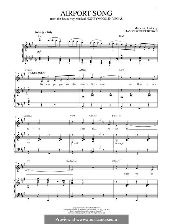 Airport Song: Para vocais e piano by Jason Robert Brown