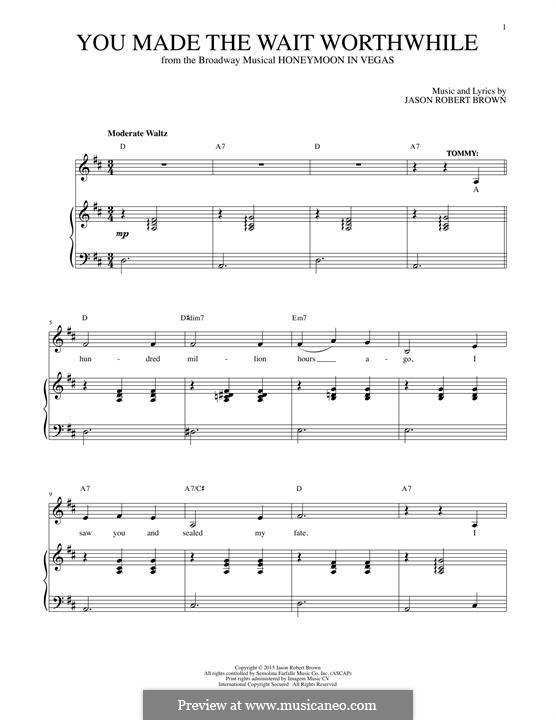 You Made the Wait Worthwhile: Para vocais e piano by Jason Robert Brown
