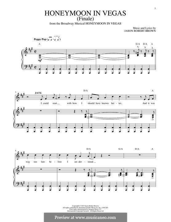 Honeymoon in Vegas (Finale): Para vocais e piano by Jason Robert Brown