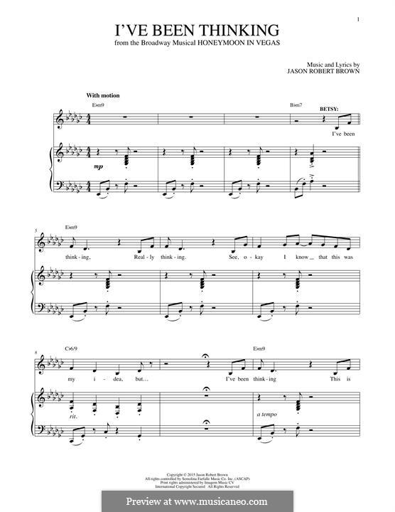 I've Been Thinking: Para vocais e piano by Jason Robert Brown