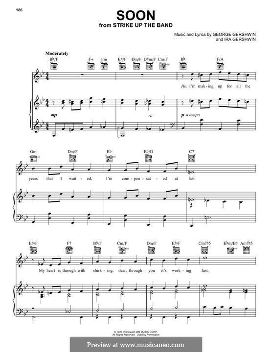 Soon: Para vocais e piano by George Gershwin