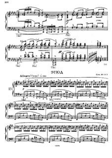 Four Etudes for Piano, Op.44: Etude No.3 in E Minor by Felix Blumenfeld