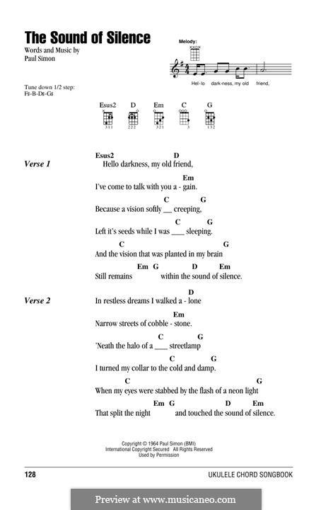 The Sound of Silence (Simon & Garfunkel): para ukulele by Paul Simon