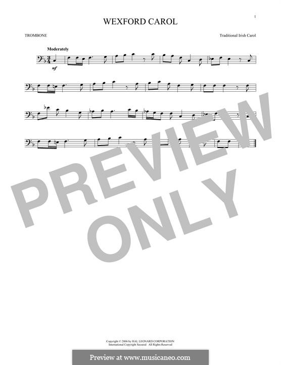 Wexford Carol: para trombone by folklore