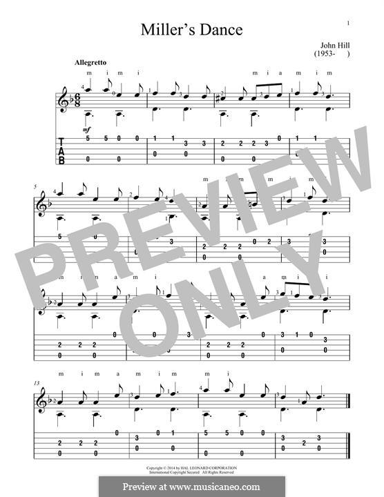 Miller's Dance: Para guitarra com guia by John Hill