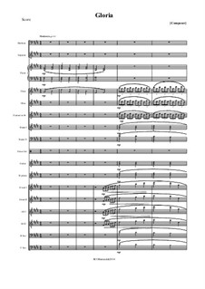 Gloria in excelsis deo: para orquestra russa folk by Unknown (works before 1850)