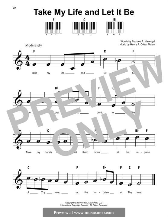 Take My Life and Let It Be: For any instrument by Henri Abraham Caesar Malan