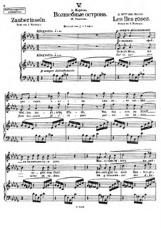 Vierundzwanzig Gedichte, Op.86: Nr.5 Zauberinseln by César Cui