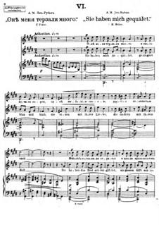 Vierundzwanzig Gedichte, Op.86: Nr.6 Sie haben mich gequälet by César Cui