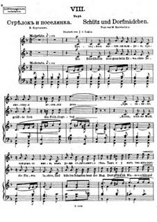 Vierundzwanzig Gedichte, Op.86: Nr.8 Schütz und Dorfmädchen by César Cui