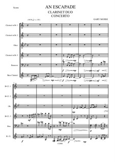 An Escapade for Two Clarinets: An Escapade for Two Clarinets by Gary Mosse