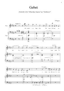 Gebet der Elisabet: Für Stimme und Klavier by Richard Wagner