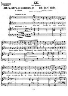 Vierundzwanzig Gedichte, Op.86: Nr.12 Ich darf nicht by César Cui