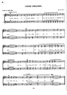 Nine Vocal Quartets, Op.88: No.1 by César Cui