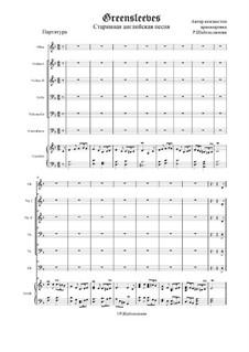 Greensleeves: para orquestra de camara, Op.1 by folklore