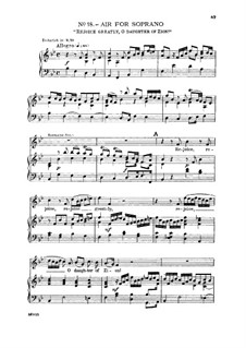 No.18 Rejoice Greatly, O Daughter of Zion: For soprano and piano by Georg Friedrich Händel