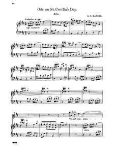 Ode for St. Cecilia's Day, HWV 76: He soft complaining flute. Aria for soprano by Georg Friedrich Händel