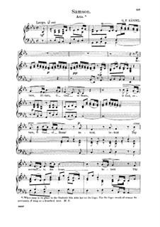 Samson, HWV 57: Return, O God of hosts. Aria for alto/countertenor by Georg Friedrich Händel