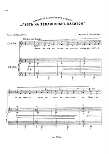 Sechs Romanzen, Op.9: Nr.1 Mag da draussen Schnee sich thürmen by César Cui