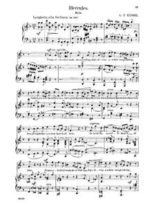 Hercules, HWV 60: From celestial seats descending. Aria for tenor by Georg Friedrich Händel