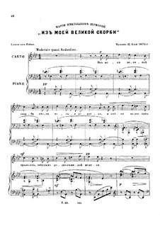 Sechs Romanzen, Op.9: Nr.2 Aus meinen grossen Schmerzen by César Cui