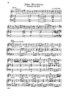 Judas Maccabaeus, HWV 63: Sound an alarm. Recitative and Aria for tenor by Georg Friedrich Händel