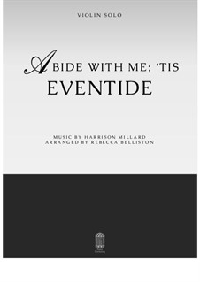 Abide With Me; 'Tis Eventide: para violino by Harrison Millard
