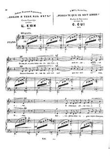 Sechs Romanzen, Op.9: Nr.6 Penses-tu by César Cui