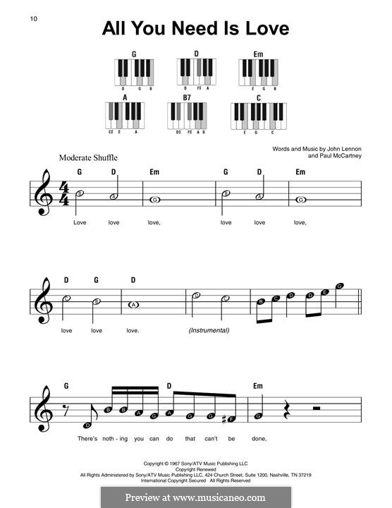 All You Need Is Love (The Beatles): Letras e Acordes by John Lennon, Paul McCartney
