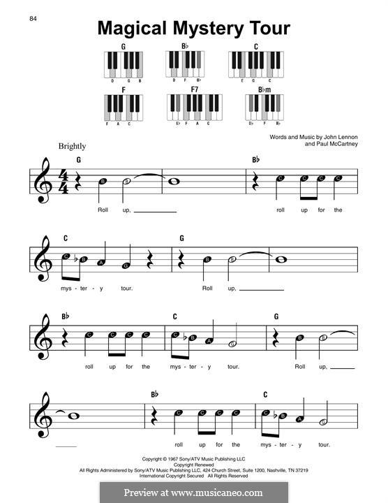 Magical Mystery Tour (The Beatles): melodia by John Lennon, Paul McCartney