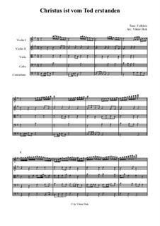Christus ist vom Tod erstanden: For string ensemble by Unknown (works before 1850)