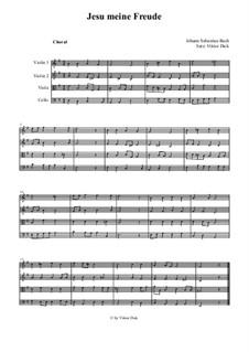 Jesu, meine Freude, BWV 227: Für Streichquartett by Johann Sebastian Bach