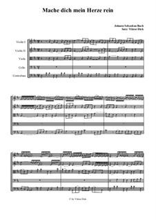 Part II: No.65 Mache dich, mein Herze, rein, für Streichquintett by Johann Sebastian Bach