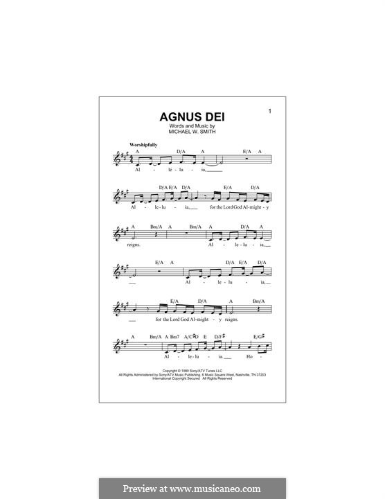 Agnus Dei: melodia by Michael W. Smith